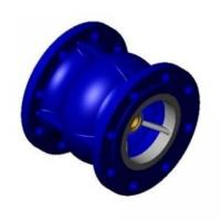Клапан обратный осевой DN50 фланцевый корпус чугун, диск чугун, PN16. TECOFI