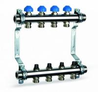Коллектор в сборе БЕЗ расходомеров  7 выходов (нерж. сталь, WATTS)
