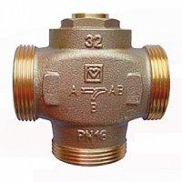 """Клапан смесительный для повышения темп обратки DN32 (Нар.р. 1 1/2"""") байпас отключ"""