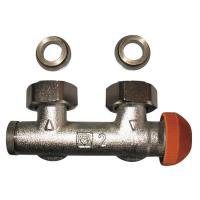 Узлы подключения угловой ГЕРЦ-3000 со встроенным термостатическим клапаном для двухтрубных систем (букса клапана - с открытой шкалой предварительной настройки)