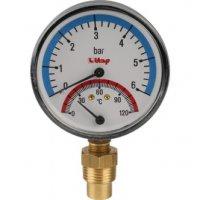 Термоманометр, боковое подключение