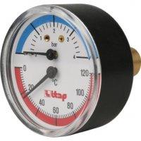 Термоманометр, осевое подключение