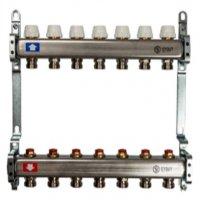 Коллектор в сборе БЕЗ расходомеров 8 выходов (нерж. сталь, Stout)